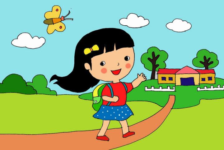 ta con duong tu nha den truong hay nhat - Tả con đường từ nhà đến trường hay nhất