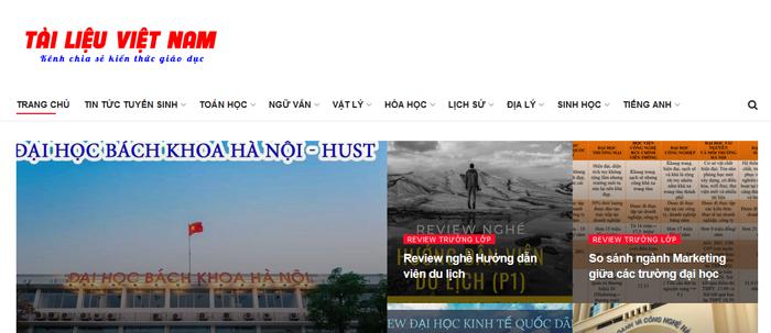 website van mau hay 19 - Một số website bài văn mẫu dành cho học sinh (phần 2)
