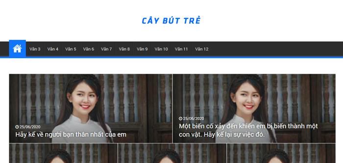 website van mau hay 20 - Một số website bài văn mẫu dành cho học sinh (phần 2)