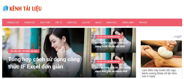 website van mau hay 21 - Một số website bài văn mẫu dành cho học sinh (phần 2)