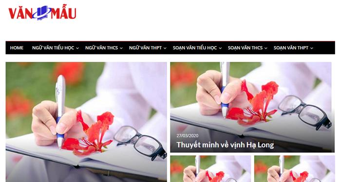 website van mau hay 23 - Một số website bài văn mẫu dành cho học sinh (phần 2)