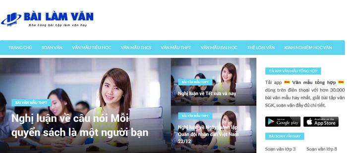 website van mau hay 25 - Một số website bài văn mẫu dành cho học sinh (phần 2)