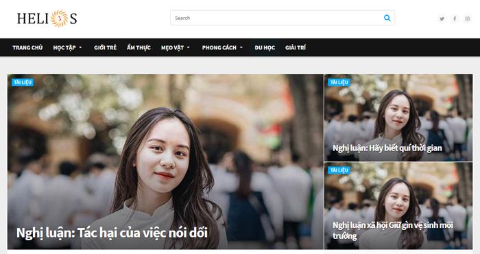 website van mau hay 29 - Một số website bài văn mẫu dành cho học sinh (phần 2)