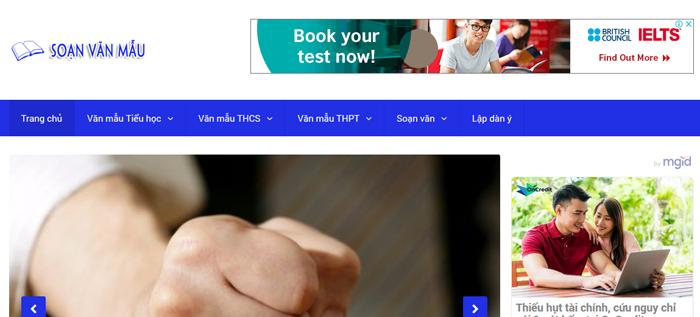 website van mau hay 30 - Một số website bài văn mẫu dành cho học sinh (phần 2)