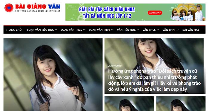 Một số website bài văn mẫu dành cho học sinh (phần 3)