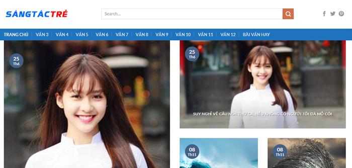 website van mau hay 33 - Một số website bài văn mẫu dành cho học sinh (phần 3)
