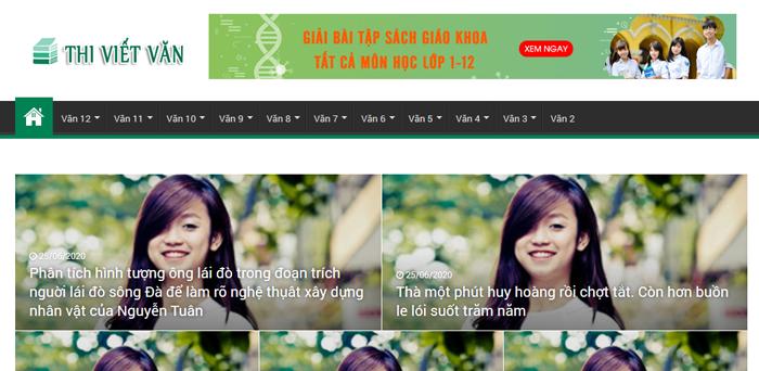 website van mau hay 34 - Một số website bài văn mẫu dành cho học sinh (phần 3)