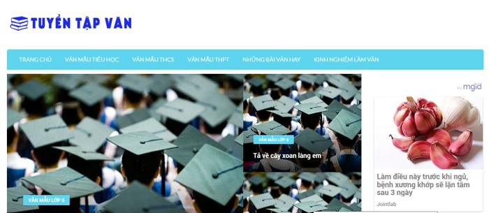 website van mau hay 35 - Một số website bài văn mẫu dành cho học sinh (phần 3)
