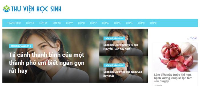 website van mau hay 37 - Một số website bài văn mẫu dành cho học sinh (phần 3)