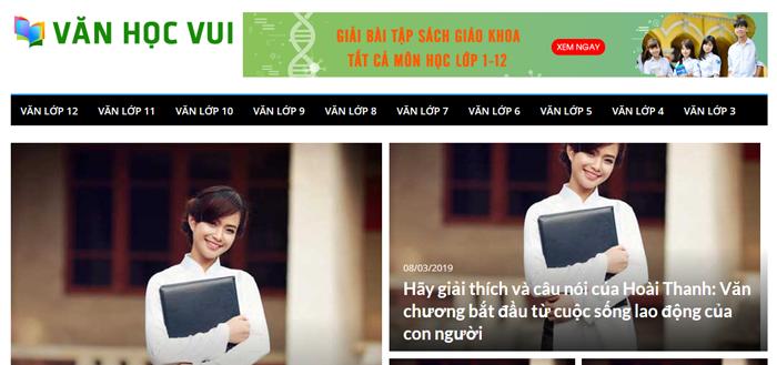 website van mau hay 38 - Một số website bài văn mẫu dành cho học sinh (phần 3)