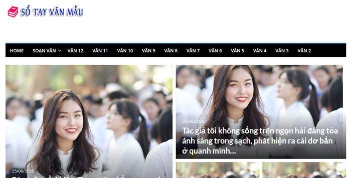 website van mau hay 40 - Một số website bài văn mẫu dành cho học sinh (phần 3)