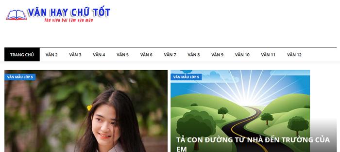 website van mau hay 42 - Một số website bài văn mẫu dành cho học sinh (phần 3)