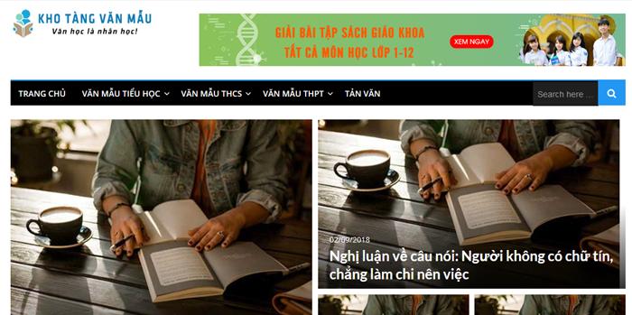 website van mau hay 43 - Một số website bài văn mẫu dành cho học sinh (phần 3)