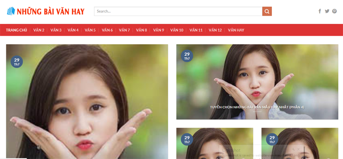 website van mau hay 44 - Một số website bài văn mẫu dành cho học sinh (phần 3)