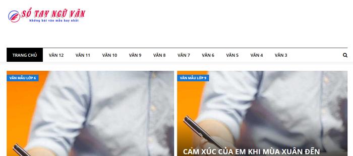 website van mau hay 45 - Một số website bài văn mẫu dành cho học sinh (phần 3)