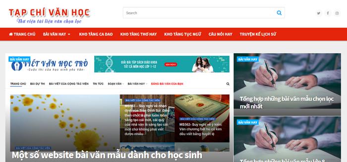 website van mau hay 46 - Một số website bài văn mẫu dành cho học sinh (phần 3)