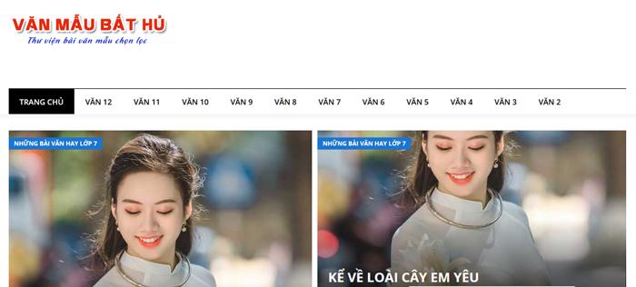 website van mau hay 47 - Một số website bài văn mẫu dành cho học sinh (phần 3)