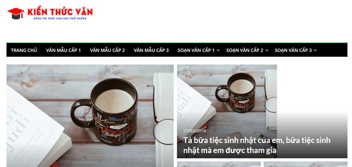 website van mau hay 48 - Một số website bài văn mẫu dành cho học sinh (phần 3)