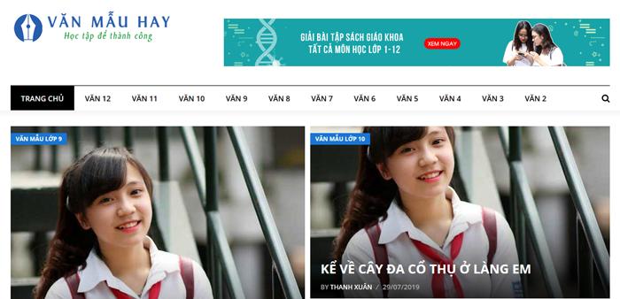 website van mau hay 50 - Một số website bài văn mẫu dành cho học sinh (phần 3)