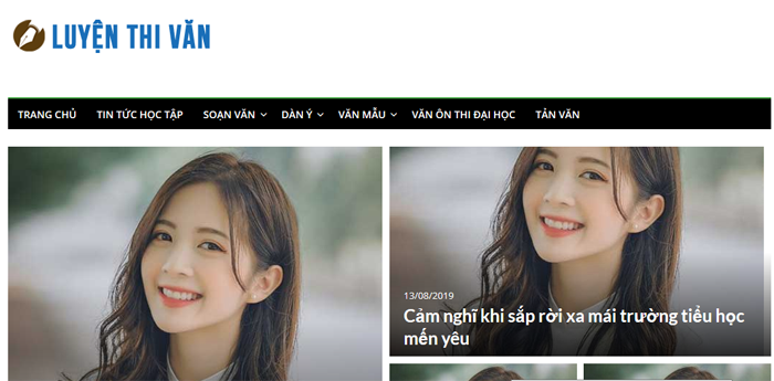 website van mau hay 57 - Một số website bài văn mẫu dành cho học sinh (phần 4 cuối)