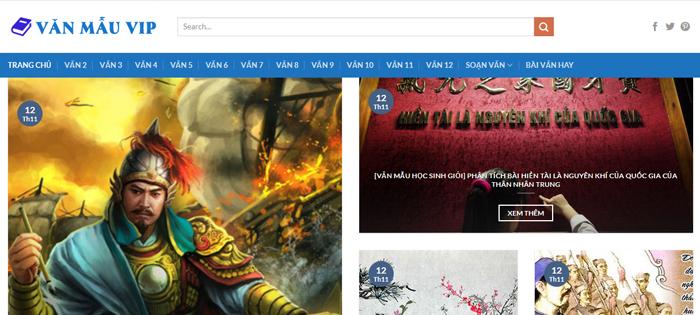 website van mau hay 59 - Một số website bài văn mẫu dành cho học sinh (phần 4 cuối)