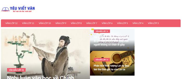 website van mau hay 65 - Một số website bài văn mẫu dành cho học sinh (phần 4 cuối)