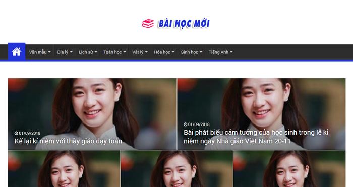 website van mau hay 67 - Một số website bài văn mẫu dành cho học sinh (phần 4 cuối)